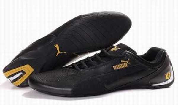 basket puma homme cuir noir